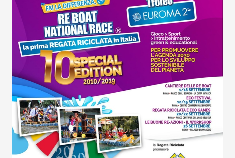 Torna a Roma la Re Boat National Race, la regata riciclata